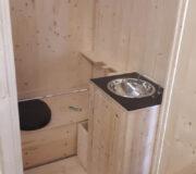 Komposttoilette WIESE Sonderbau II - extra groß mit Handwaschbecken