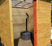 Komposttoilette Wald barrierefrei mit Biolan vertieft