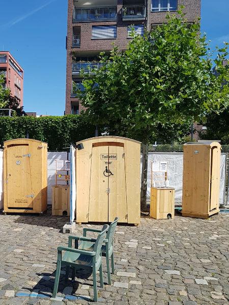 Komposttoilette mieten - barrierefreie Toilette HEIDE-barrierefrei