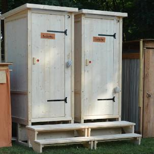 nowato Komposttoilette, Toilettehäuschen WIESE aus Fichte mit Biolan