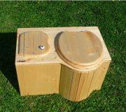 """nowato Komposttoilette """"Der Schmetterling"""" · aus Fichte, lackiert · Sitz rechts"""