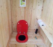 Verkauf Kompost-Toilette aus Holz. Ökologische Komposttoilette für den Garten.