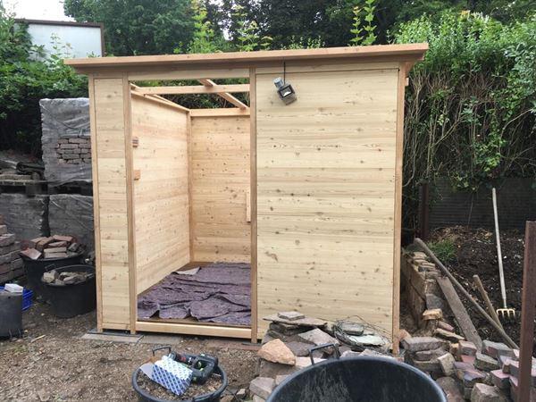 Komposttoilette Wald barrierefrei XXL 80L. Montage