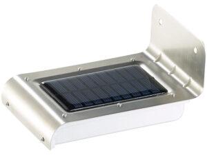 LED-Solar-Wandleuchte, optional für Toilettekabine WIESE. Ansicht von oben, Solarpanel