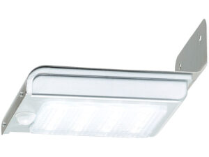 LED-Solar-Wandleuchte, optional für Toilettekabine WIESE. Ansicht von unten, Bewegungssensor