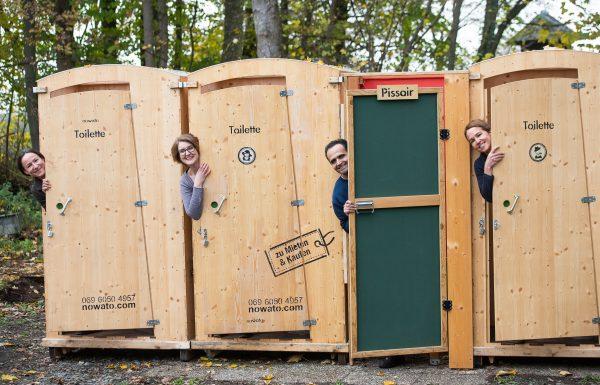 nowato Heide Toiletten und die Firmenmitarbeiter: Séverine Felt, Melanie Faaß, Kazem Yarmohamadi und Elisabeth Felt (v.l.n.r.)