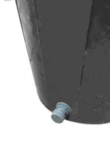 Tankdurchführung mit schraubverschluss - Sicht von Aussen