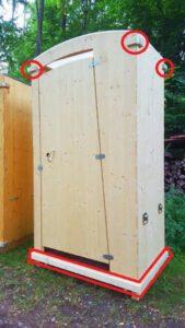 Toilette-HEIDE - Schützleiste aus Holz