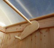 Toilette WIESE - Dachöffnung mit Hebel