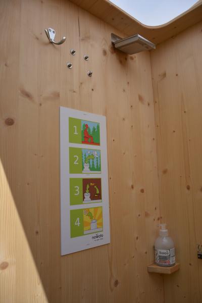 Toilettenhäuschen - Humustoilette nowato - Details Nutzungsanleitung, Lampe
