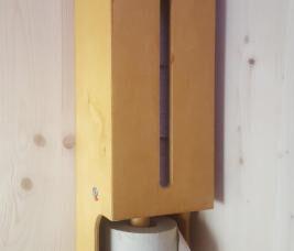 Toilettenpapierspender aus Multiplex lasiert, 5 Rollen