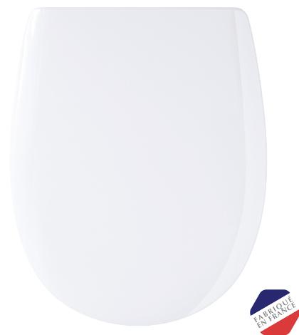 der nowato-Toilettensitz - Toilettensitz Ariane weiß von OLFA aus retikuliertem Holz, lackiert