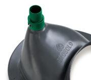 Trenntoiletten Einsatz grau - Auslauf für Urin mit Schlauchverbindung