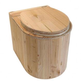 Komposttoilette aus HOLZ - Modell Marienkäfer aus Douglasie - Klobrille zu - Innentoilette für zuhause