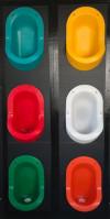 Wasserloses Urinal für Männer - aus PE - Farbenauswahl