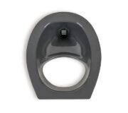 Urine diverting toilets insert grey - toilet seat -Trenntoiletten Einsatz grau - Ansicht von oben