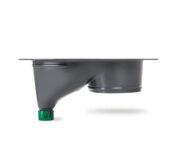 Urine diverting toilets insert grey - toilet seat -Trenntoiletten Einsatz grau - Seitenansicht
