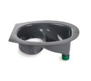 Urine diverting toilets insert grey - toilet seat -Trenntoiletten Einsatz grau - mit Adapter für Urinauslauf