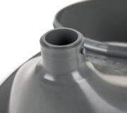 Urine diverting toilets insert grey - toilet seat -Trenntoiletten Einsatz grau - Detail Urinauslauf
