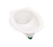 Urine diverting toilets insert white - Toilettensitz - Adapter mit Gitter als Schutz