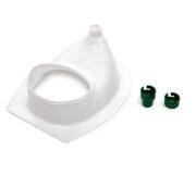 Urine diverting toilets insert white - Toilettensitz - 2 Adapter: Schutzgitter oder Schlauchanschluss