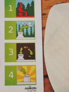 nowato - kleiner Vortrag über Komposttoiletten - Verein Wiesbaden - Nutzungsanleitung für die Komposttoilette