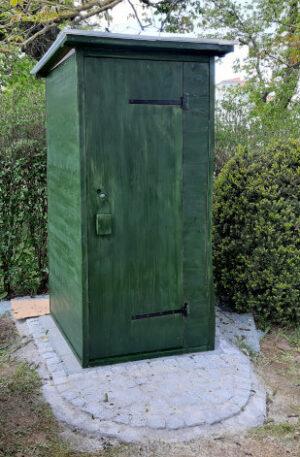 Verkauf · Komposttoilette WALD 80L mit grüner Lasur · Privatgarten in Bad-Nauheim