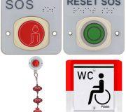 Toilette-Notruf Set Vario Funk DIN 18040-1+3, 869 MHz, Braillebeschriftung · nowato Barrierefreie Komposttoilette