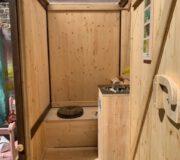 WIESE Sondermaße mit Handwaschbecken in der Kabine - Innenansicht