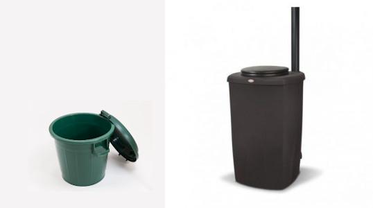 nowato 80L-Behälter versus Biolan eco