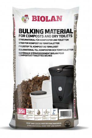 Spezial-Einstreu für Biolan-Toiletten 35Liter. Torffreie Mischung aus Kiefernrinde, Moos und Biokohle für Komposte und Trockentoiletten.