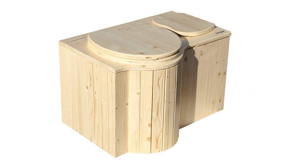 "Komposttoilette Modell ""Schmetterling"". Innentoilette aus Fichte."