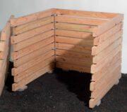 Komposter novum aus Holz mit Stecksystem - Wand offen