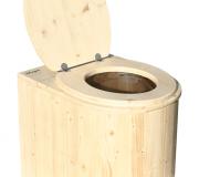 Komposttoilette Marienkäfer lackiert Toilettenbrille offen