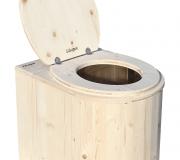 Komposttoilette Marienkäfer unbehandelt Toilettenbrille offen