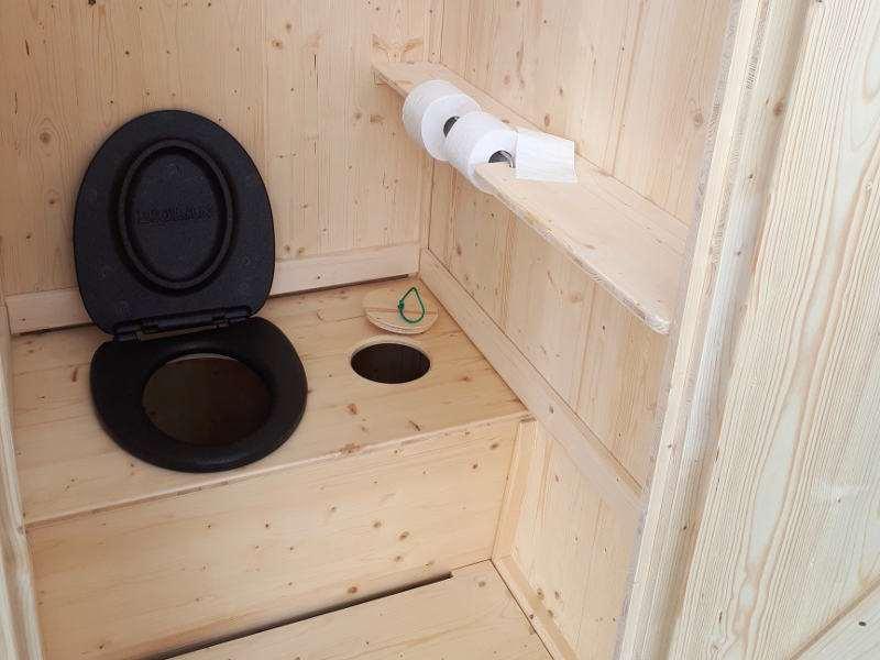 Komposttoilette 'Wiese' aus Fichte · Innenausrichtung