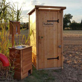 mobile Toilette und Handwaschbecken - Vermietung