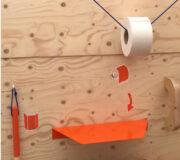 nowato - Frauenurinal ohne - Wasser - Marcelle-Hockposition - Urinalbecken für Frauen -- Detail Mülleimer für Toilettenpapier