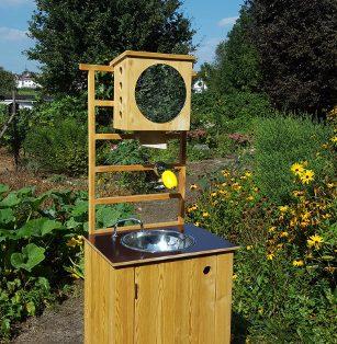 nowato mobiles Handwaschbecken mit Fusspumpe.