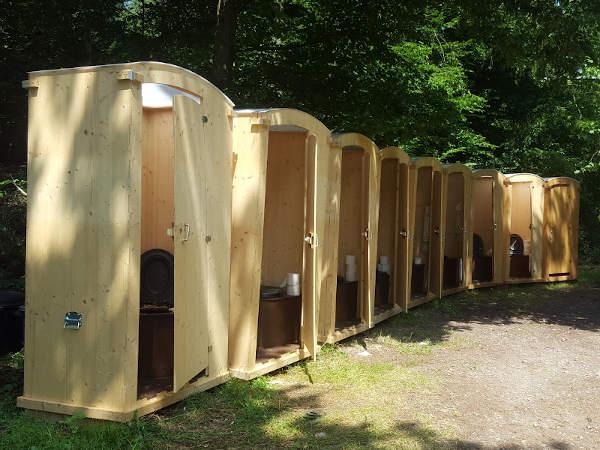 nowato Komposttoilette 10 Heide - Sommercamp im Wald