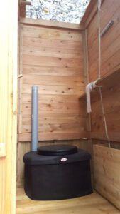 nowato - Komposttoilette WIESE mit Biolan eco - Innenansicht