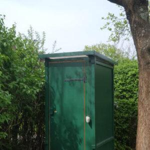 nowato Komposttoilette WIESE in einem Garten, Hessen - compost toilet in a garden. Autonomous sanitation