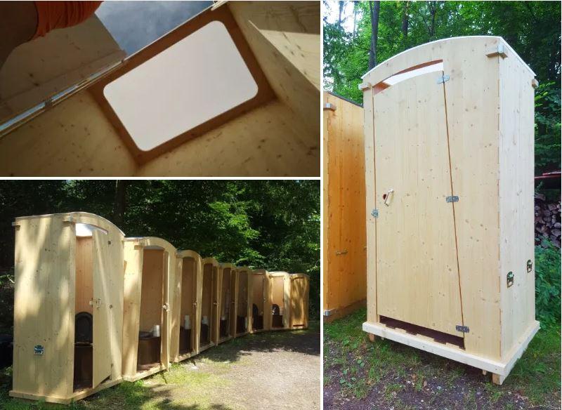 nowato Vermietung von Komposttoiletten · Toilette 'Heide' 80L