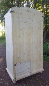 nowato Komposttoilette 'Heide' · Ansicht Rückseite