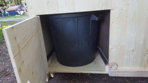nowato Komposttoilette Modell 'Heide' · 80-L Behälter