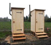 nowato Komposttoilette Modell Wald aus Fichte. Kinder- und Jungendfarm, Hessen
