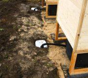 nowato Komposttoilette Modell Wald aus Fichte. Sickerwasserkanister