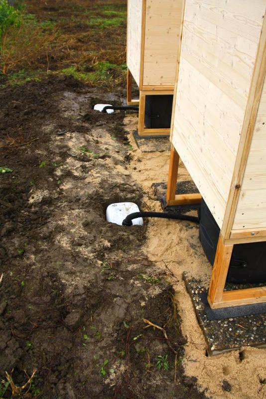 nowato Komposttoilette Modell Wald aus Fichte. Sickerwasserkanister. Komposttoilette mit Toilettensystem Biolan eco