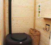 nowato Komposttoilette Modell Wald aus Fichte. Innenansicht