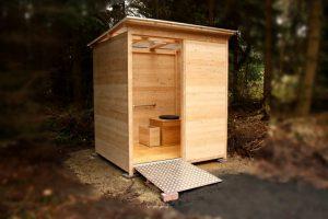 nowato barrierefreie Komposttoilette Modell Wald 80L